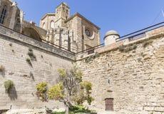 Catedral velha do La Seu Vella na cidade de Lleida, Espanha Imagem de Stock