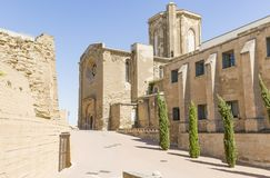 Catedral velha do La Seu Vella na cidade de Lleida, Espanha Fotografia de Stock Royalty Free