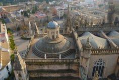 Catedral vista del Giralda Imágenes de archivo libres de regalías