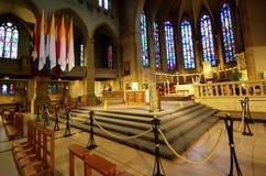 Catedral - vista interior fotografia de stock royalty free