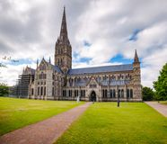 Catedral Wiltshire Inglaterra ocidental sul Reino Unido de Salisbúria imagens de stock royalty free