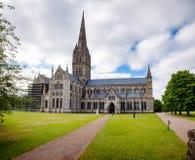 Catedral Wiltshire Inglaterra ocidental sul Reino Unido de Salisbúria fotos de stock royalty free