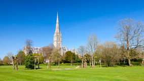 Catedral Wiltshire Inglaterra Reino Unido de Salisbúria imagens de stock royalty free