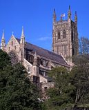 Catedral, Worcester, Reino Unido. imagenes de archivo