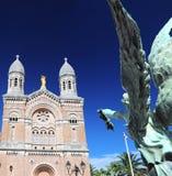 Catedral y ángel Foto de archivo libre de regalías