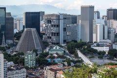 Catedral y acueducto metropolitanos de Lapa, Rio de Janeiro, el Brasil imagen de archivo
