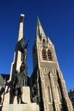 Catedral y cenotafio de Christchurch foto de archivo