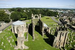Catedral y ciudad de Elgin Fotografía de archivo