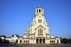 Catedral y cuadrado, Sofía de Alexander Nevsky Fotografía de archivo