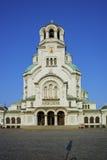 Catedral y cuadrado, Sofía de Alexander Nevsky Foto de archivo libre de regalías