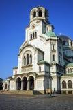 Catedral y cuadrado, Sofía de Alexander Nevsky Fotos de archivo