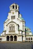 Catedral y cuadrado, Sofía de Alexander Nevsky Imagen de archivo libre de regalías