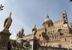 Catedral y obispo de Palermo Imagenes de archivo