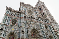 Catedrala di Santa Maria del Fiore, Giotto torn - Firenze Duomo, Italien Royaltyfri Foto