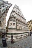 Catedrala di Santa Maria del Fiore, Giotto torn - Firenze Duomo, Italien Fotografering för Bildbyråer