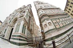 Catedrala di Santa Maria del Fiore, Giotto torn - Firenze Duomo, Italien Arkivbilder