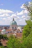 Catedrale de Bríxia, Itália, vista do castelo Fotos de Stock