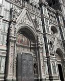 Facade of the cathedral of Florence in Italy Royalty Free Stock Photography