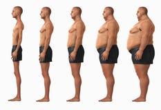 Categorías del índice de masa corporal BMI del hombre Imagenes de archivo