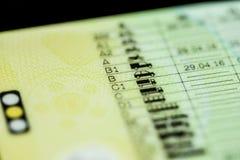Categorías del carné de conducir Imágenes de archivo libres de regalías