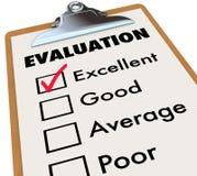 Categorias da avaliação da prancheta das notas da avaliação ilustração do vetor