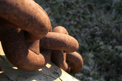 Catena arrugginita Fotografie Stock Libere da Diritti