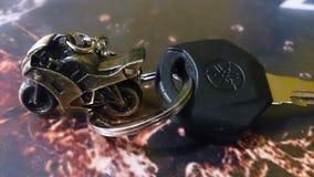 Catena chiave del metallo della bici di Yamaha Fotografia Stock Libera da Diritti