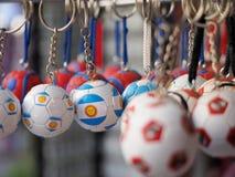 Catena chiave di calcio Fotografia Stock