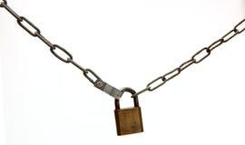 Catena con la serratura fotografia stock libera da diritti