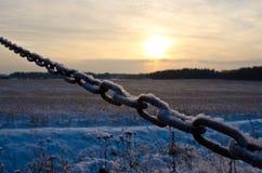Catena congelata Fotografia Stock Libera da Diritti