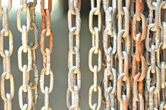 Catena d'acciaio arrugginita Fotografie Stock