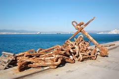 Catena d'ancoraggio Immagine Stock