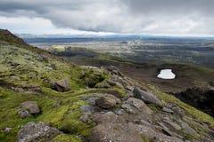 Catena dei crateri vulcanici a Lakagigar, Islanda Fotografia Stock Libera da Diritti