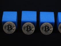 Catena del blocchetto di Bitcoin fotografia stock