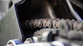 Catena del motociclo archivi video