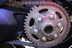 Catena del motociclo Immagini Stock
