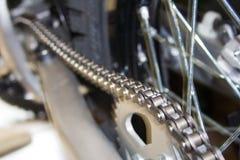 Catena del motociclo Immagine Stock