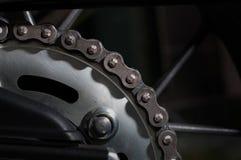 Catena del motociclo della sporcizia Fotografie Stock