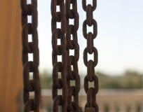Catena dell'acciaio Immagini Stock Libere da Diritti