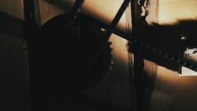Catena dell'ingranaggio, legno video d archivio