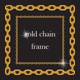 Catena dell'oro sotto forma di strutture royalty illustrazione gratis