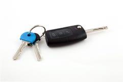 Catena dell'orologio chiave dell'automobile con le chiavi della Camera Fotografia Stock