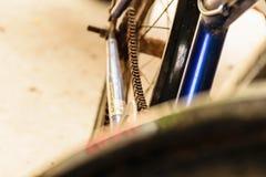 Catena della bicicletta Fotografia Stock