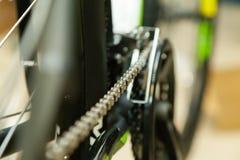 Catena della bicicletta nella tensione Fotografia Stock Libera da Diritti