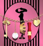 catena della donna illustrazione vettoriale