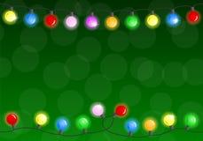 Catena delle luci di natale illustrazione vettoriale