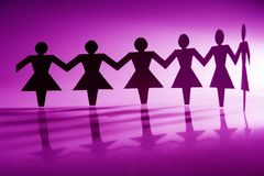 Catena di carta femminile Immagini Stock