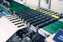 Catena di imballaggio trasportatore Immagine Stock