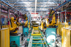 Catena di montaggio dell'automobile Immagine Stock Libera da Diritti