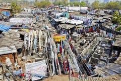 Catena di montaggio di Dhobhi Ghat Mumbai Immagini Stock